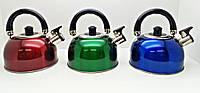 Чайник со свистком и двойным дном 2,5 л, для газовой плиты