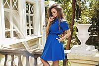 Платье с рубашечным воротником