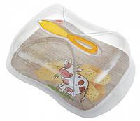Контейнер для хранения сыра с ножом 3 л
