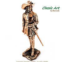 Статуэтка воина мушкетёра со шпагой с медным напылением TS762