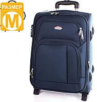 Стильный, средний двух колесный чемодан 56 л. SUITCASE (СЬЮТКЕЙС) APT001M-6 синий