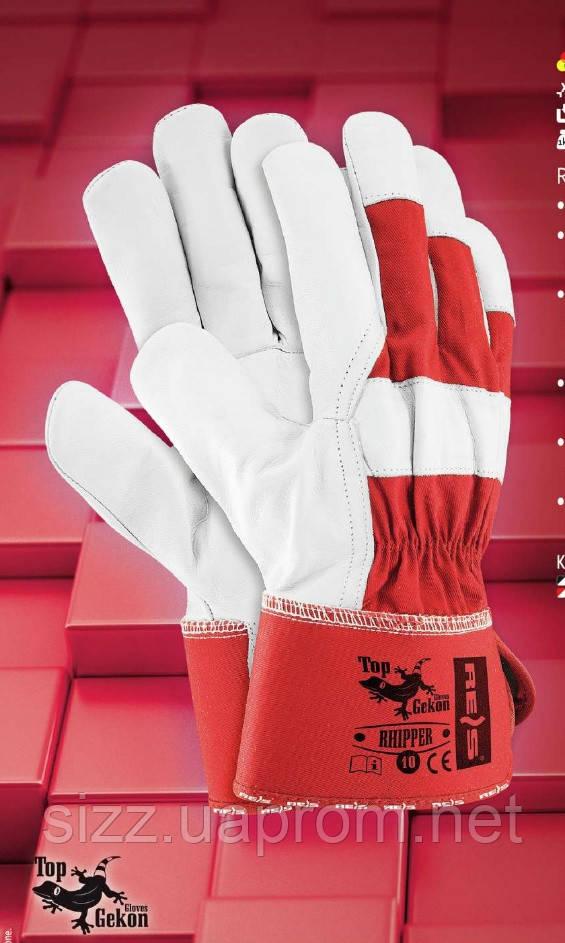 Защитные перчатки  RHIPPER из лицевой кожи, фото 1
