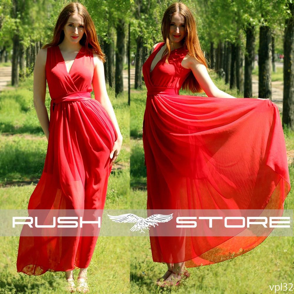 d3360e50bcc4785 Купить Шифоновое платье в пол в Николаеве от компании