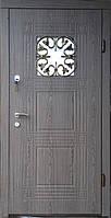 Вхідні двері модель Т2 345 ДУБ ВУЛКАН КОВКА