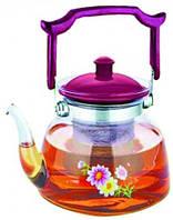 Чайник стекло огнеупорное V=1000 мл., кухонная посуда