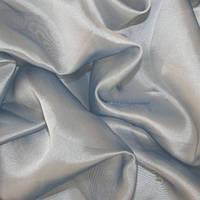 Тюль микровуаль (муар), серо-голубой
