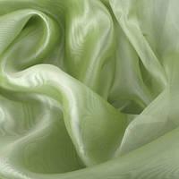 Тюль микровуаль (муар), зеленое яблоко