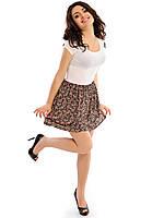 Летняя женская юбка в мелкий цветочек из вискозы