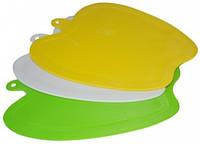 Доска разделочная пластик Яблоко 220*180мм, кухонная посуда