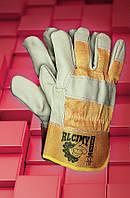 Защитные перчатки RLCJMY. Перчатки рабочие лицевая кожа, фото 1