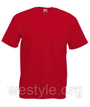Футболка хлопковая - 61-036-40 красная