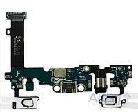 Шлейф для Samsung A710F Galaxy A7 (2016) с разъемом зарядки, гарнитуры и микрофоном и кнопкой Home Original