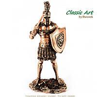 Статуэтка античного воина гладиатора со львом на щите TS996