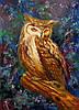 «Мудрая сова» картина маслом