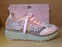 Кроссовки Dolce&Gabbana розовая пудра