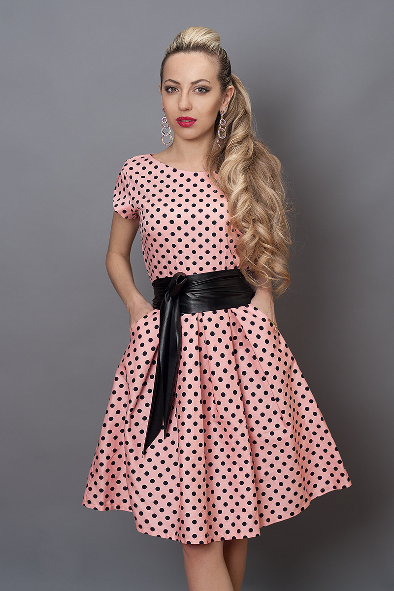 Сукня мод 249-6 розмір 46 рожеве