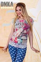 """Красивая женская футболка """"PARIS"""""""
