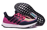 Кроссовки для бега женские  Adidas Ultra Boost Navy Pink