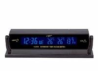 Авточасы VST 7013V, авточасы с термометром vst, часы автомобильные электронные, компактные часы в машину