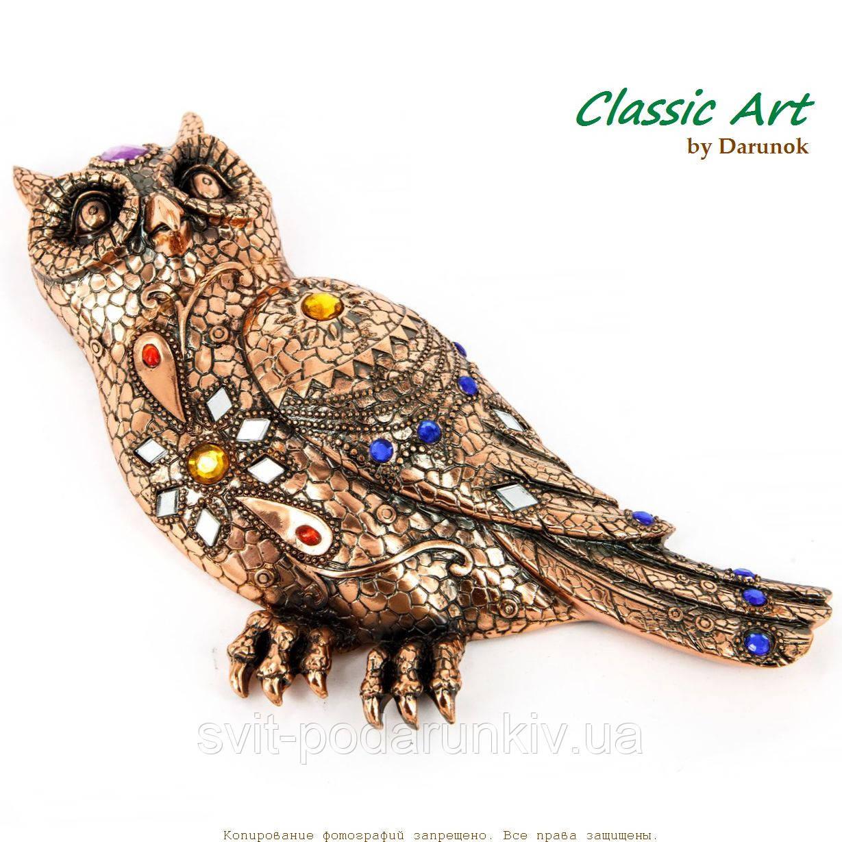 Статуэтка сова инкрустированная мозаичными элементами ES477