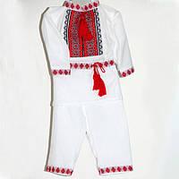 Модный вышитый детский костюм для крещения