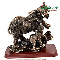 """Статуэтки слонов """"Мама и слонёнок"""" ES093"""