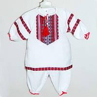 Красивый вышитый детский костюм для крещения