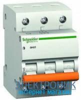 Автоматический выключатель ВА63 3п 25А С 4.5кА