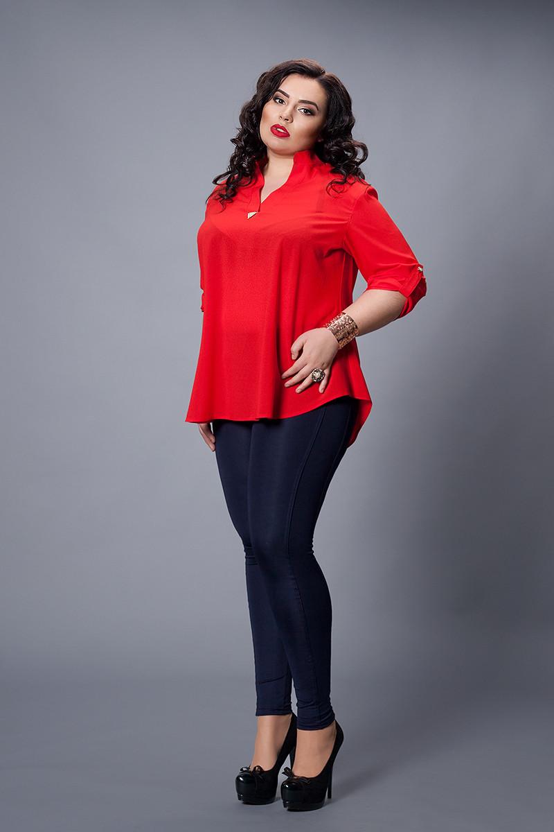 Блуза  мод 501-1 размер 50-52,52-54 красная