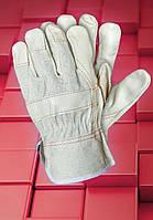 Защитные перчатки  RLJ. Перчатка рабочая с лицевой кожи, фото 1