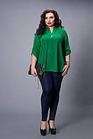Блуза  мод 501-3 размер 52-54 зеленая