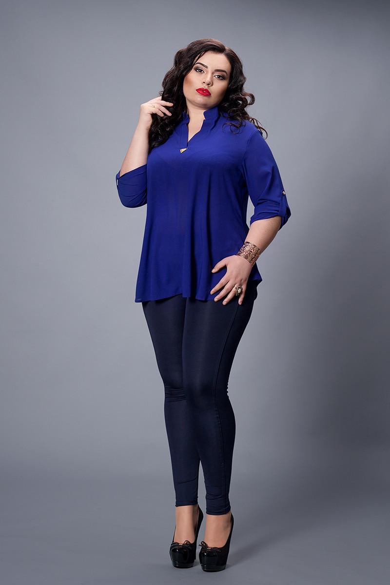 Блуза  мод 501-5 размер 56-58 чернильная