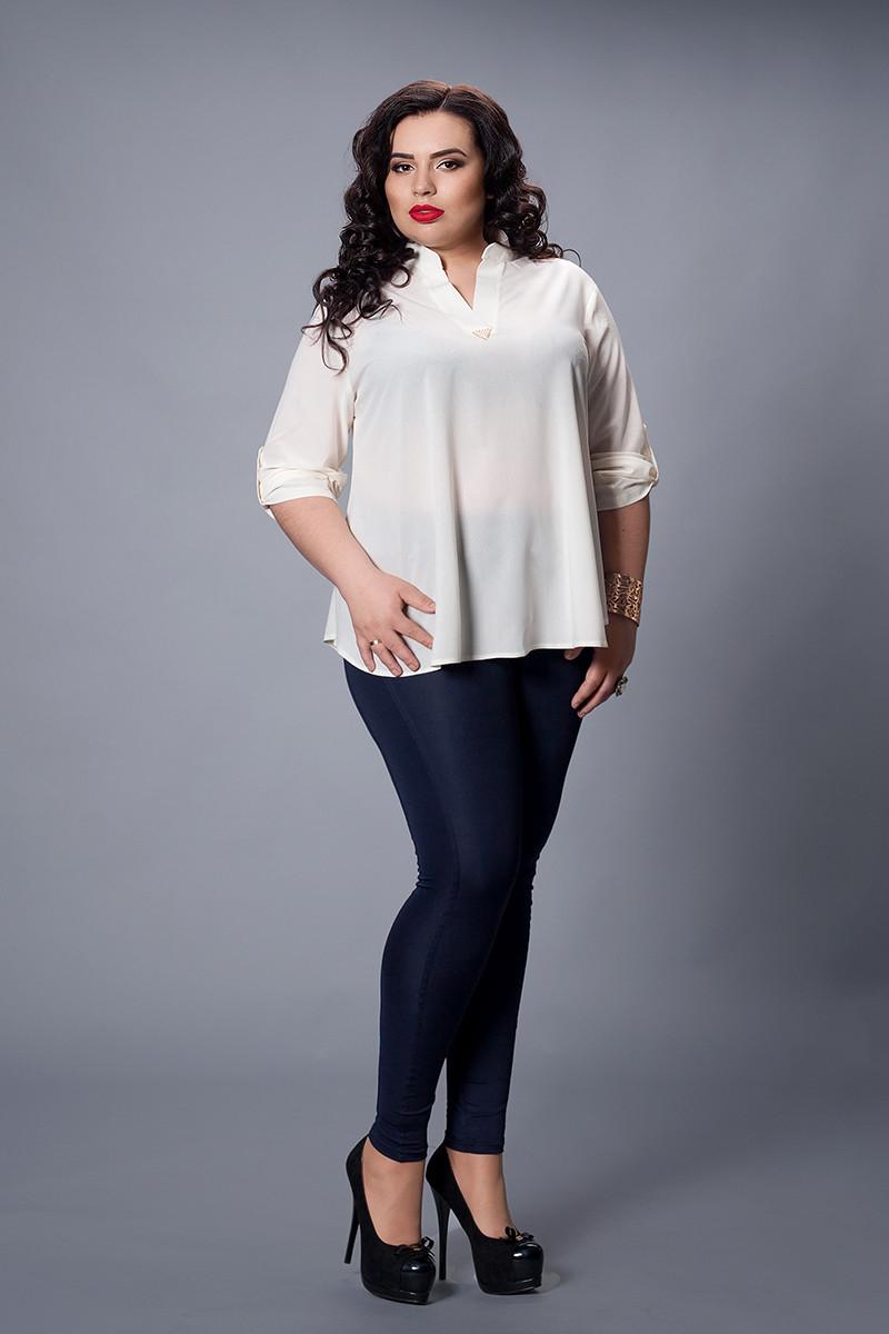 Блуза мод 501-6 розмір 50-52,52-54 молочна