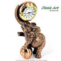 Статуэтка слон настольные часы ES550