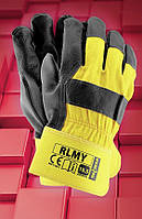 Защитные перчатки RLMY .Перчатки рабочие кожаные, фото 1