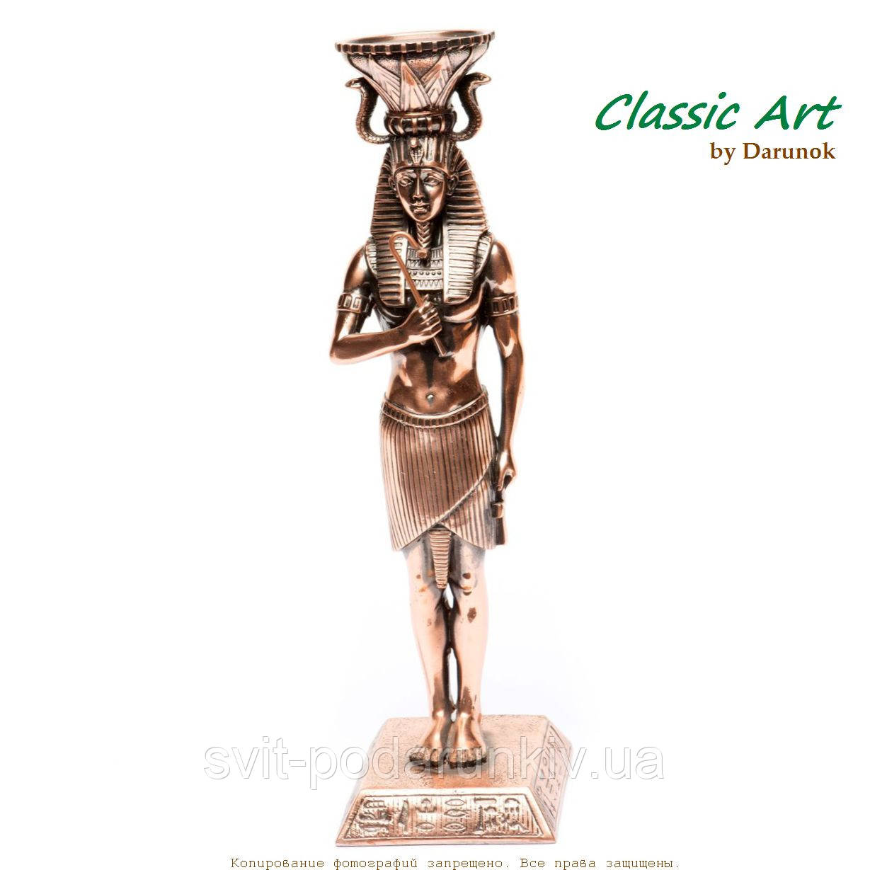 Статуэтка фараона Тутанхамона подсвечник олицетворяющий мужскую силу zS460