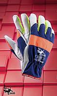 Защитные перчатки    RLNEOX.Перчатки рабочие кожаные, фото 1