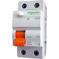 Диф. выключатель напряжения Schneider ВД63 2П 63A 30МA