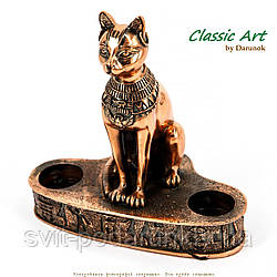 Статуэтка кошка египетская подсвечник для 2 свечей ES341