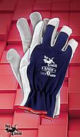 Защитные перчатки   RLTOPER.Перчатки рабочие кожаные, фото 1