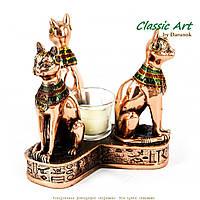 Статуэтки кошек 3 шт подсвечник из Египта EWS340-1