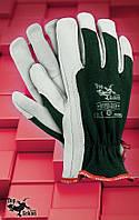 Защитные перчатки   RLTOPER-GREEN.Перчатки рабочие кожаные, фото 1
