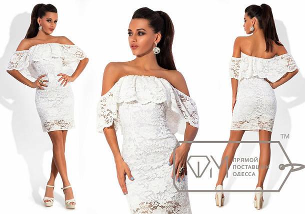 Короткое платье гипюр, фото 2