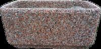 Вазон бетонный для сада «Атлант» красный гранит