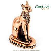 Фигурка кошка египетская 17 см с покрытием меди ES387
