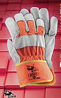 Защитные перчатки RSTOPER. Перчатка рабочая из лицевой кожи, фото 1
