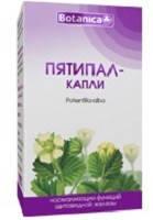 Пятипал (лапчатка белая) капли 50мл (Ботаника) - для нормализации функционирования щитовидной железы