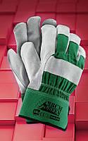 Перчатки усиленные рабочие RBCMGREEN .Перчатки спилковые оптом, фото 1