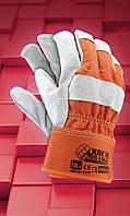 Перчатки усиленные рабочие RBCMGREEN .Перчатки спилковые оптом