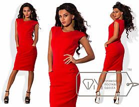 Приталенное платье с карманами, фото 2
